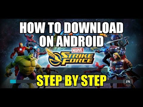 Marvel Strike Force Mobile Game | Video 2 | Step by Step walkthrough How to download MSF on Android