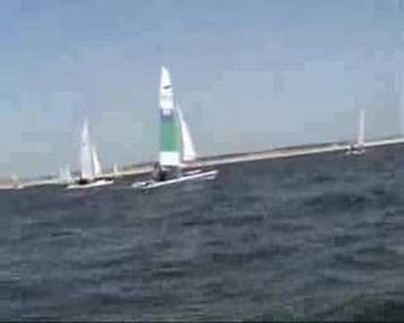Dart catamaran Yacht racing in the Netherlands