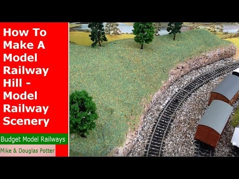 How To Make A Model Railway Hill - Model Railway Scenery Construction