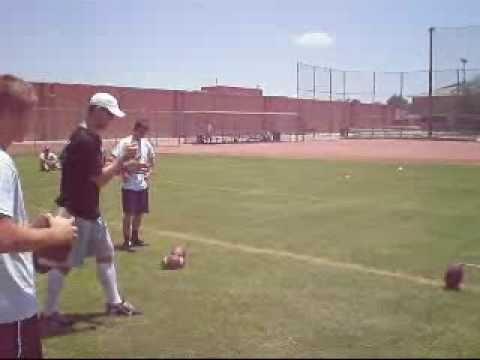 Kicker pees on field