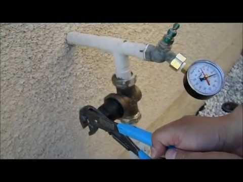 how to adjust a home water pressure regulator. Black Bedroom Furniture Sets. Home Design Ideas