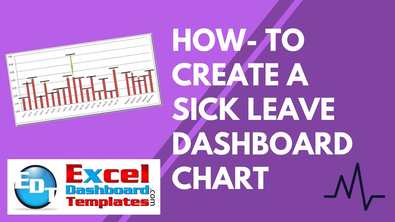 How To Create A Sick Leave Excel Dashboard Chart Youtube
