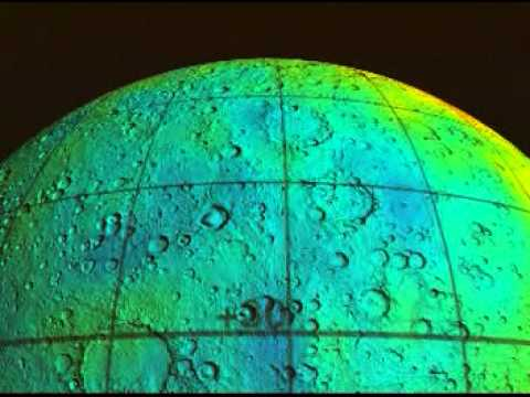 Mars Odyssey Epithermal Neutron Data Overlayed on MGS-MOLA Topo Data (Flyover, Smoothed)