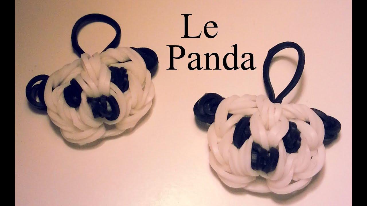 Comment faire un panda avec des lastiques sans machine - Comment faire un porte bracelet ...