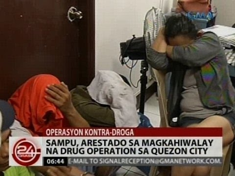 24Oras: Sampu, arestado sa magkahiwalay na drug operation sa Quezon City