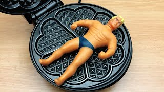 EXPERIMENT WAFFLE IRON vs Stretch Armstrong
