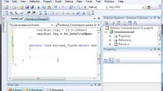 Using ListViews - Adding and Removing Items - C# Visual Studio 2008