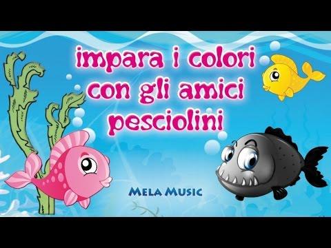 Impara i colori con gli amici pesciolini canzoni per for Pesciolini da colorare per bambini