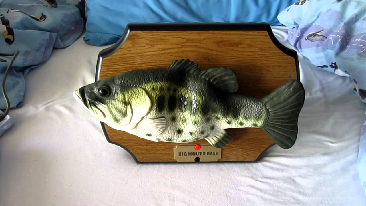 Big mouth bass singing fish fixed youtube for Talking bass fish