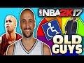 OLDEST PLAYERS WHEEL! NBA 2K17 SQUAD BUILDER -