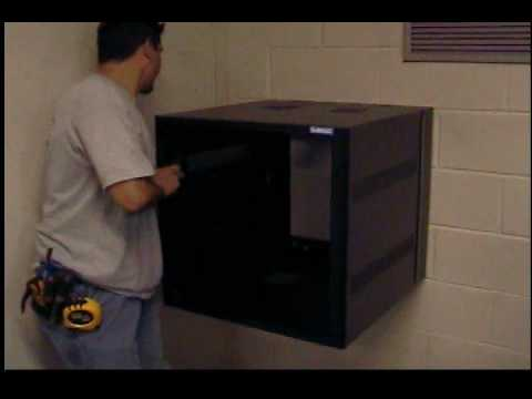 2ft Tall 24 Inch Deep Server Cabinet Wall Mount Youtube