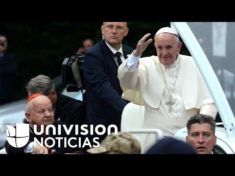 El papa Francisco llegó a Polonia en medio de un despliegue de medidas de seguridad