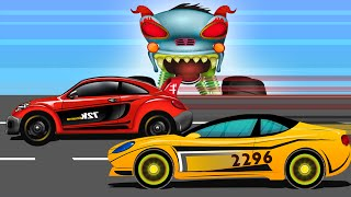 Car Race Scary | Haunted House Monster Truck