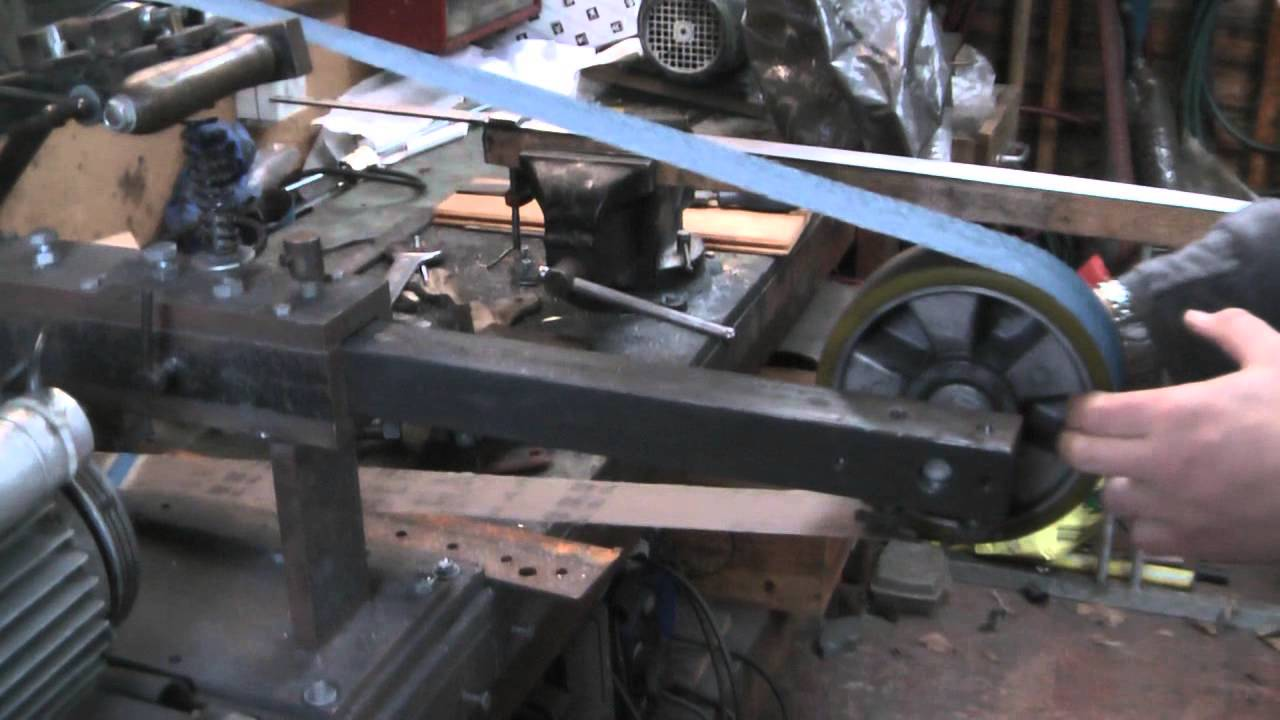 Home Made Belt Grinder Contact Wheel And Small Wheel