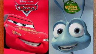 Pixar Cars steelbook blu-ray and Bugs Life blu ray unboxing review Disney