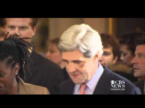 Why does John Kerry have two black eyes?