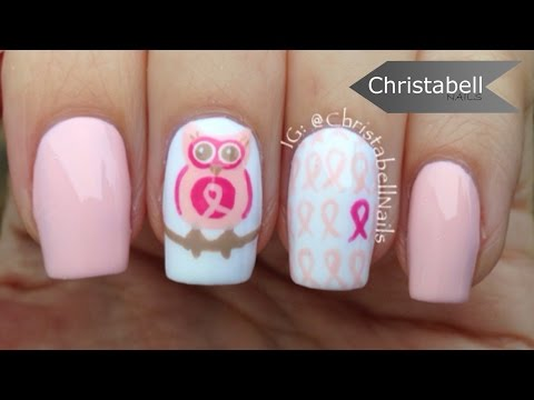 Breast Cancer Awareness Nail Art - Save Your Hooters