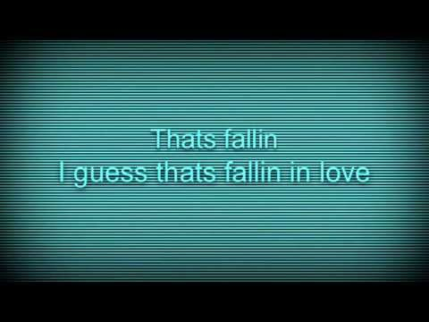 Thats falling in love lyrics talking Angelina by C...