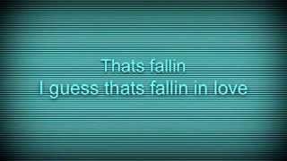 Thats falling in love lyrics (talking Angelina) by Chelsea Ward