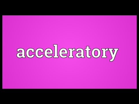Header of acceleratory