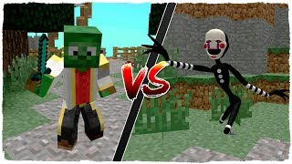 💥 MANUCRAFT VS FNAF ANIMATRONIC IN MINECRAFT 😱 DUCKY BECOMES PUPPET 🔥