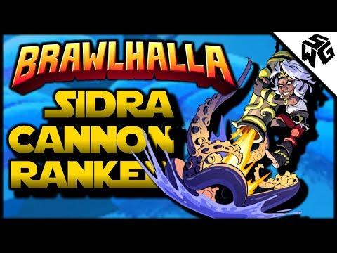 Diamond Ranked Sidra/Cannon 1v1's - Brawlhalla Gameplay :: How Do You Like Cannon?