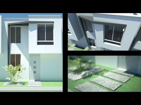 Planos casa moderna de 2 pisos 5.00 m x 11.00 m 78.69 m² (3 propuestas) Alamos