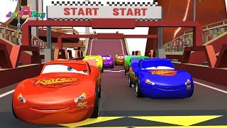 Learning Color Disney Pixar Cars Lightning McQueen track racing Play for kids car toys