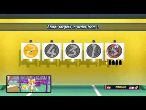 Mario and Sonic at the London 2012 Olympic Games: Part 11 - Shooting