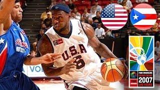 USA ррё v Puerto Rico рр - Classic Full Games  FIBA Americas Championship 2007
