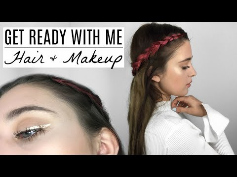 GET READY WITH ME EDC 2017   Hair & Makeup Tutorial