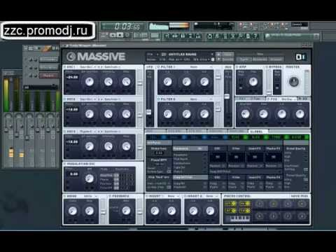 Накрутка баса в Massive FL Studio 10 - YouTube