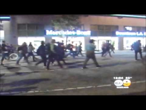 NEARLY 200 PROTESTERS ARRESTED IN LOS ANGELES DURING MICHAEL BROWN FERGUSON PROTESTS.