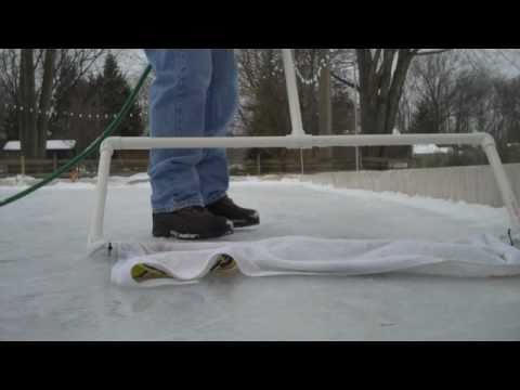 backyard ice skating rink ( zamboni) 2010 - YouTube