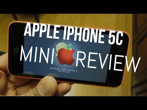 Apple iPhone 5c - Mini Review! (Lifetime Android User)