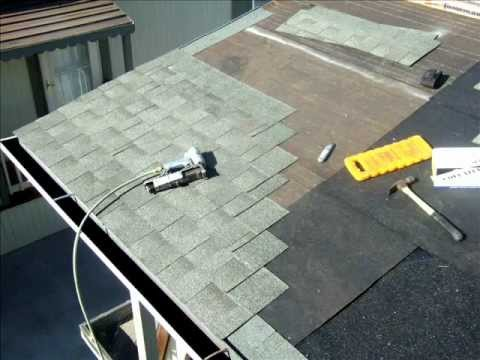 Reroof Dimensional Shingles Wmv Youtube