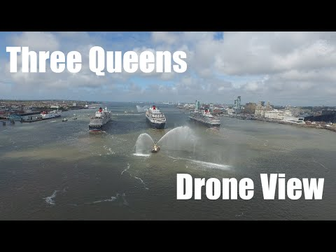 HPIGUY | Drones View - Cunard's Three Queens 175th anniversary celebrations in Mersey