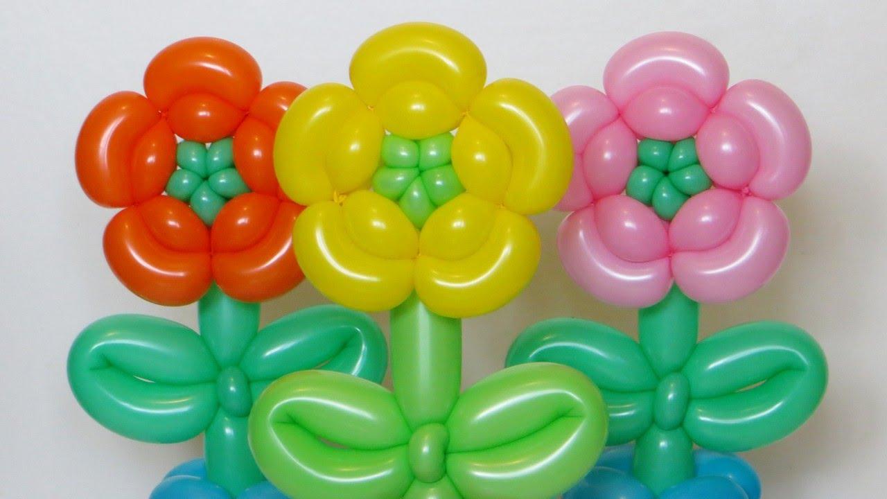 Поделки из воздушных шариков цветы 96