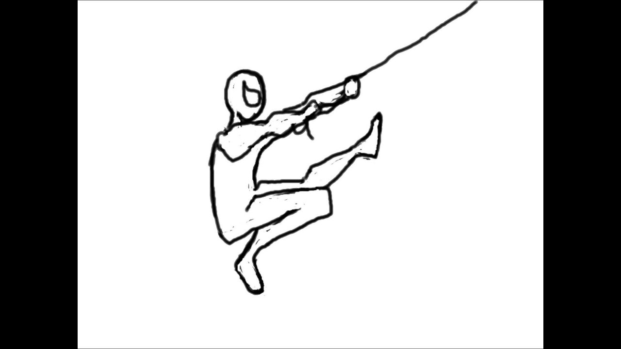 Spiderman Hand Drawing Spiderman Hand Drawn Swing