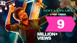 Sarkar  Simtaangaran Lyric Video  Thalapathy Vijay
