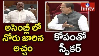 TDP MLA Acham Naidu SERIOUS On AP Assembly Speaker | AP Budget Session 2019 | hmtv