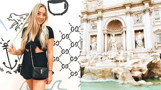 ROME DAY 1 VLOG: answering your travel questions, + roman family dinner!