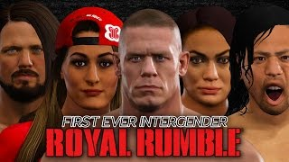 WWE 2K17 - FIRST EVER INTERGENDER ROYAL RUMBLE MATCH!!