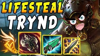 FULL Lifesteal Tryndamere | 1 Crit = FULL HEAL - Shiv + Gunblade Synergy | League of Legends