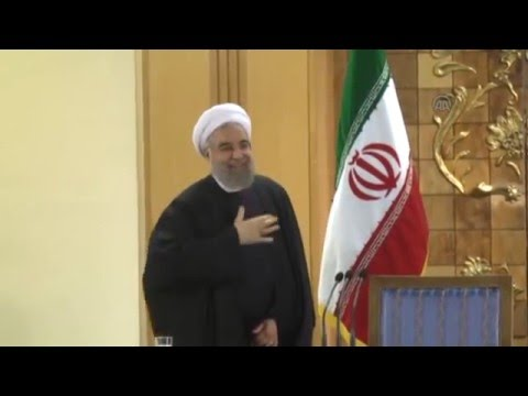Iranian President Rouhani's press conference in Tehran