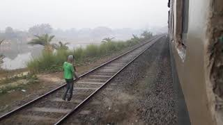 Double line Bangladesh railway Adjust two Different Line In Same Place|Bangladeshi train|Train Video