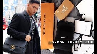 LONDON LUXURY HAUL!!! LOUIS VUITTON, GUCCI, SAINT LAURENT, ETC.