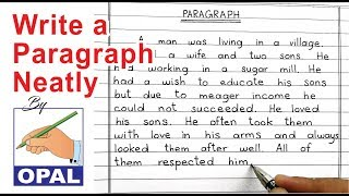 OPAL English Handwriting-Write a paragraph neatly