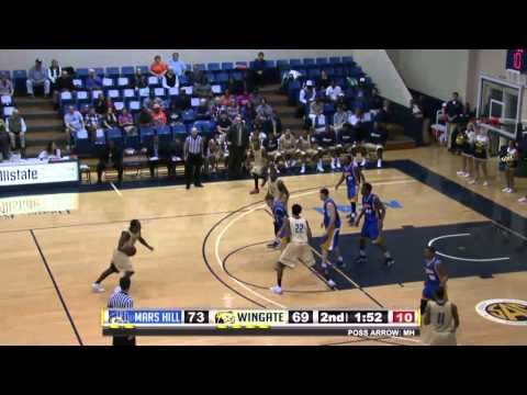 2014 Wingate Men's Basketball - Bulldogs use 19-0 run to end the game & beat Mars Hill