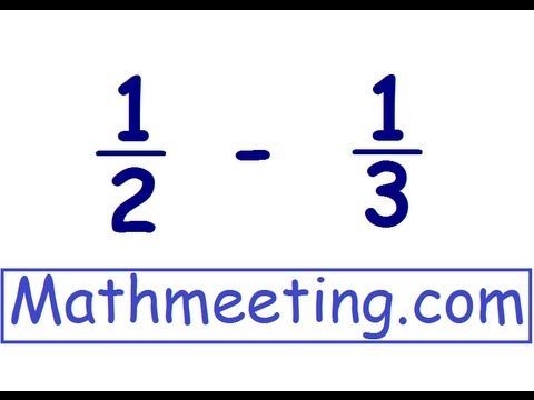 Adding Fractions - Different Denominators video